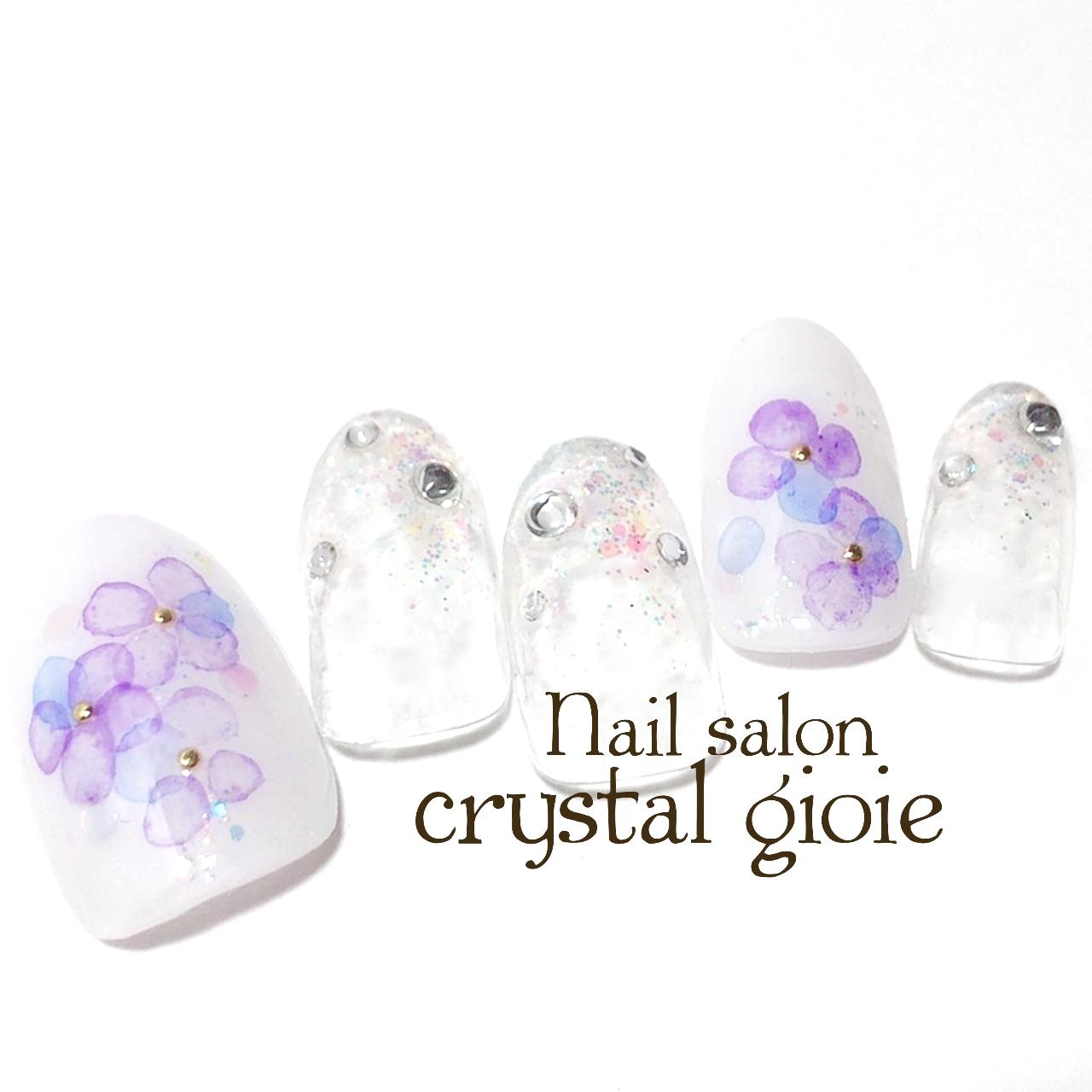 たらしこみ紫陽花